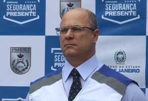 O governador do Rio de Janeiro, Wilson Witzel, no lançamento do Laranjeiras Presente Foto: Fabiano Rocha / Agência O Globo