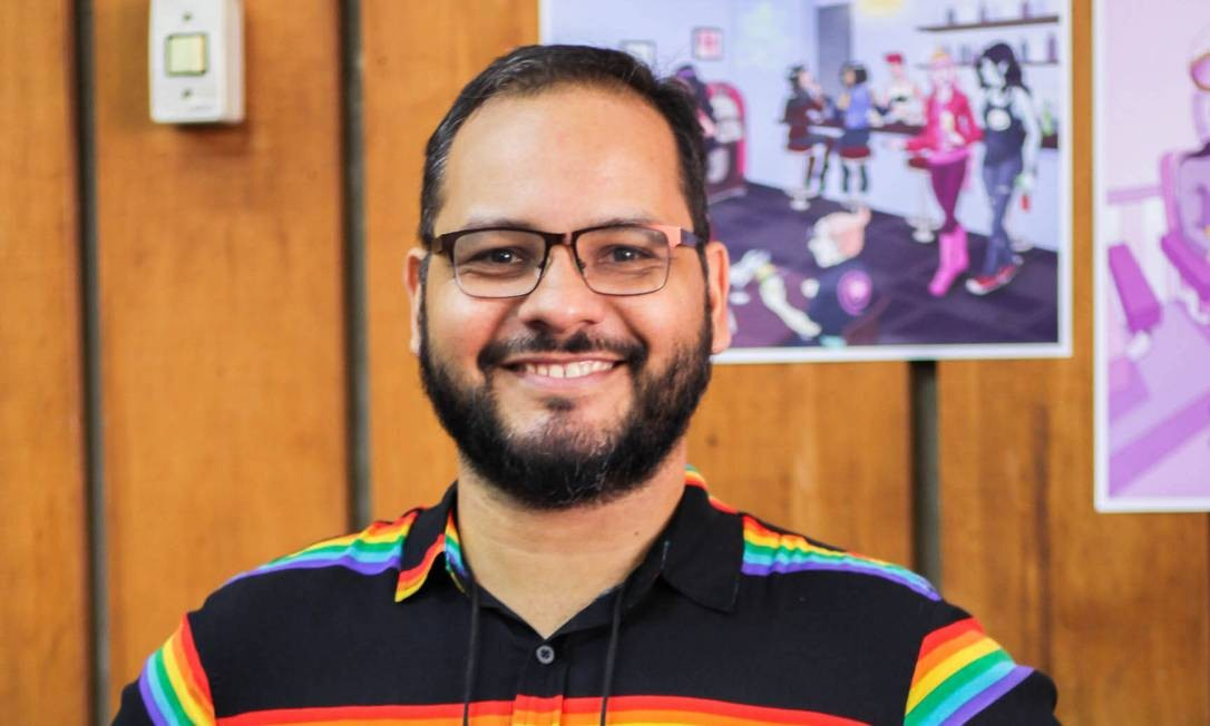 O brasiliense Mario César dos Santos de Oliveira, quadrinista e um dos organizadores da feira LGBTQ+ de quadrinhos e artes gráficas Poc Con Foto: Divulgação