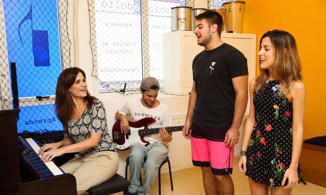 A escola começou como curso de piano e cresceu conforme a procura por outros instrumentos. A filial da Barra completará 20 anos em 2020 Foto: / Bárbara Lopes