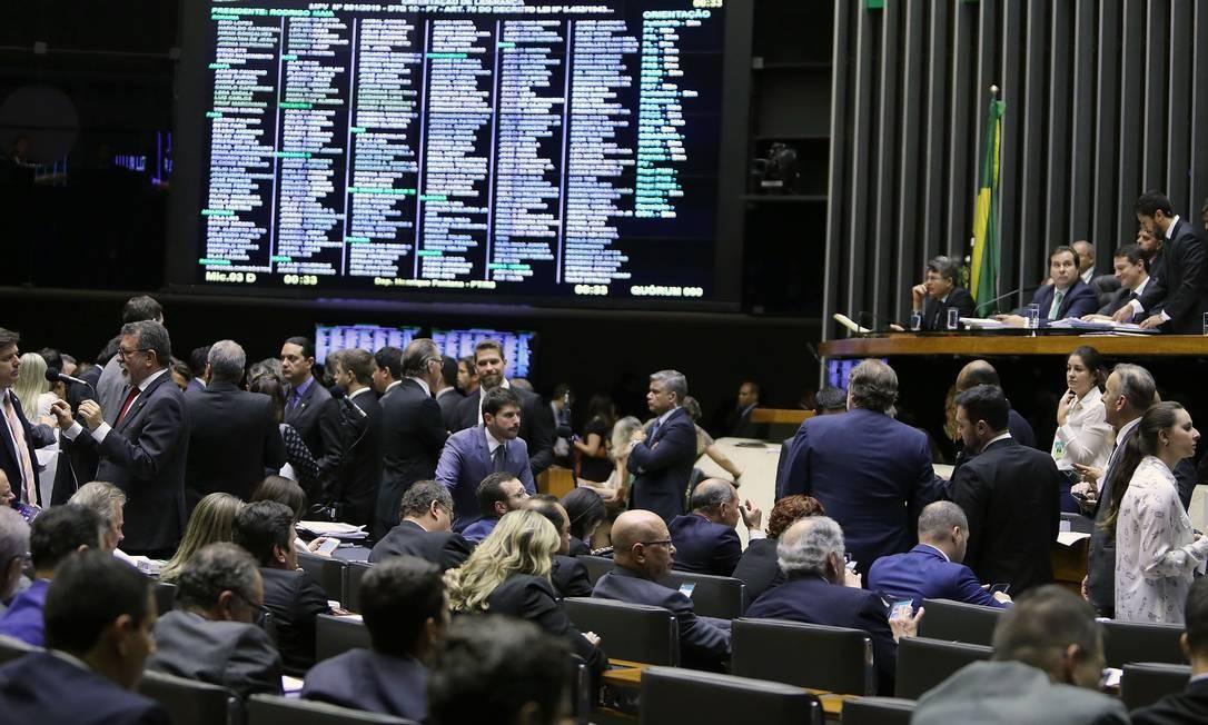 Plenário da Câmara dos Deputados na votação da MP da Liberdade Econômica. Foto: Jorge William / Agência O Globo
