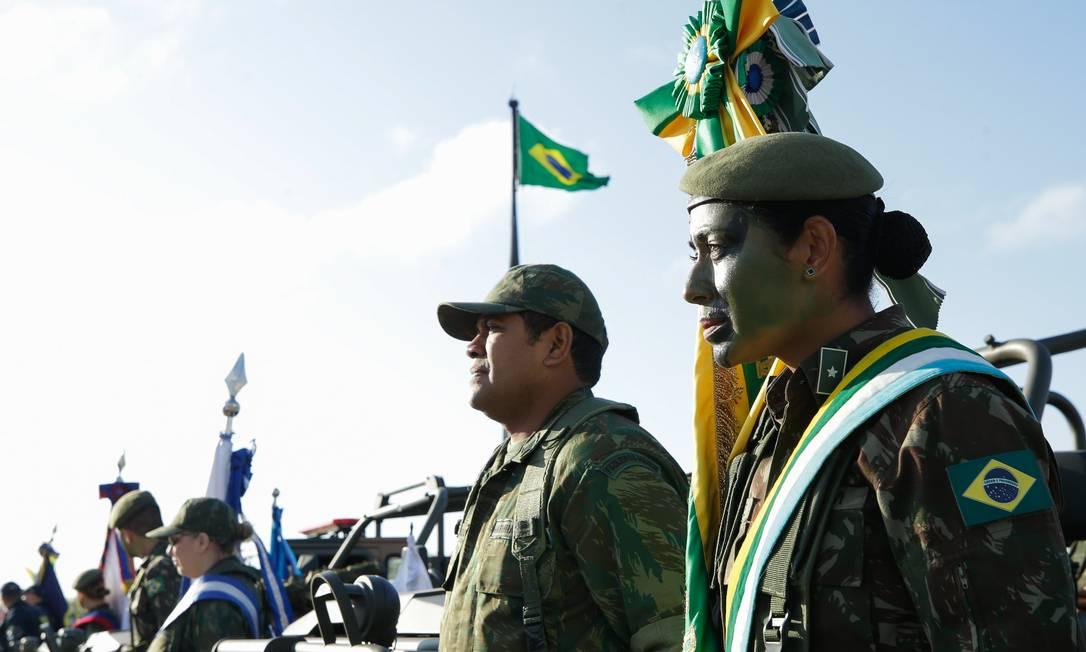 Agentes das Forças Armadas participam do desfile de 7 de Setembro em Brasília Foto: Isac Nóbrega / PR