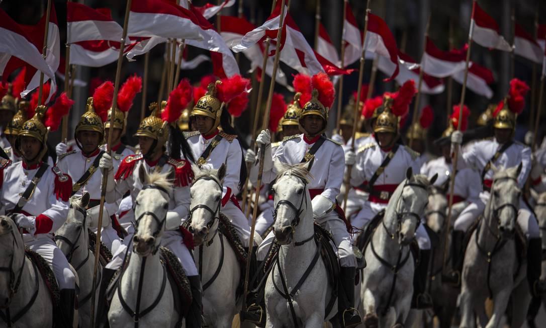 Desfile militar em comemoração ao Dia da Independência em Brasília Foto: Daniel Marenco / Agência O Globo