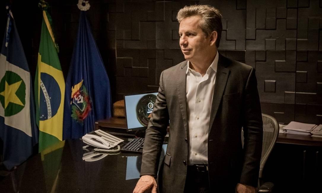 O governador de Mato Grosso, Mauro Mendes. Foto: christiano antonucci / Agência O Globo
