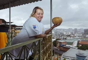Rainha da Abóbora. Rosana Damasceno, dona de restaurante na Providência, vai apresentar croquete com o legume Foto: Leo Martins / Agência O Globo
