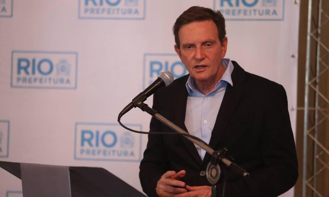 O prefeito do Rio, Marcelo Crivella, no Palácio da Cidade, em Botafogo Foto: Fabiano Rocha / Foto