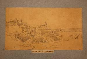 Igreja da Glória: desenho a lápis do austríaco Thomas Ender, do início do XIX Foto: Acervo da Biblioteca Nacional / Agência O Globo