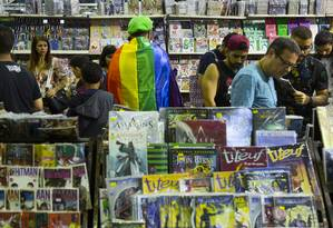Envolvida em tentativa de censura por parte do prefeito Marcelo Crivella, Bienal do Rio acabou batendo recordes de vendas Foto: Leo Martins / O Globo