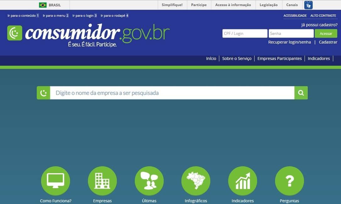 Portal de intermedição de conflitos do governo será meio para renegociação de dívida em condições especiais com bancos Foto: Reprodução