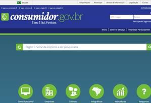 Portal de intermedição de conflitos do governo será indicado pela Justiça a consumidor que ingressar com ação Foto: Reprodução