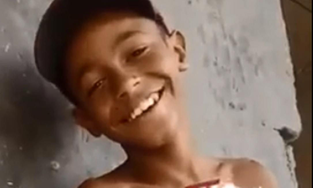 Kauê Ribeiro dos Santos, de 12 anos, morreu ao ser atingido por um disparo no Complexo do Chapadão Foto: Reprodução