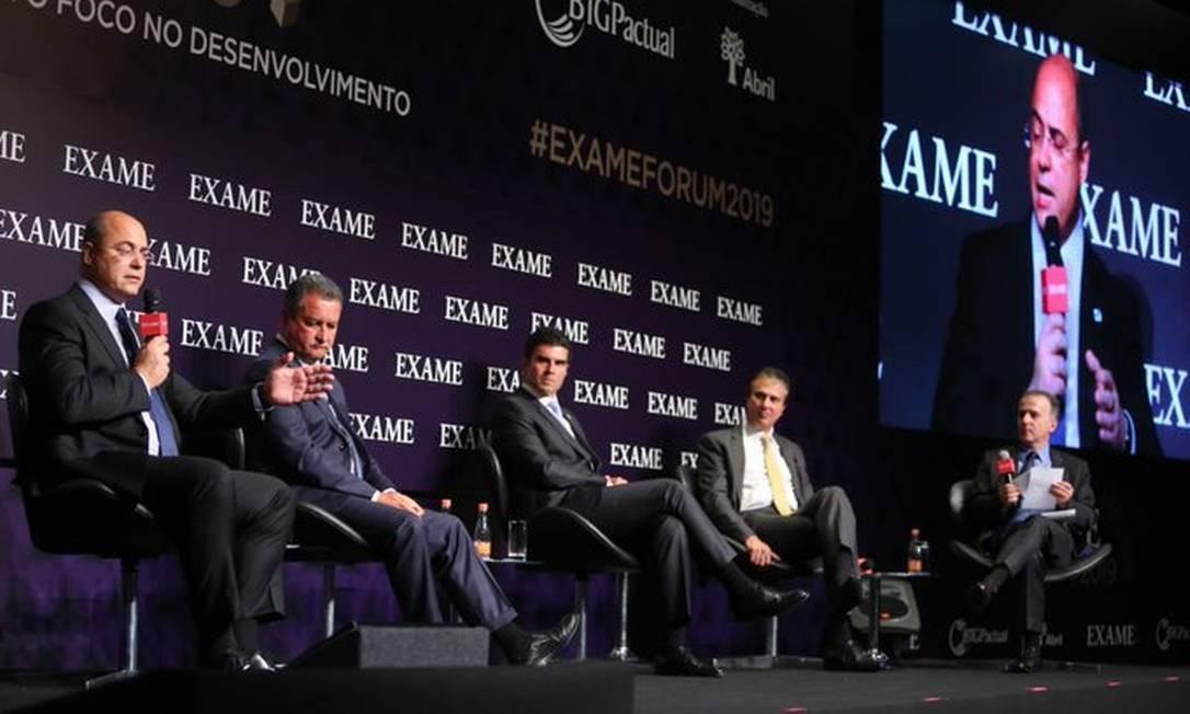 O governador do Rio, Wilson Witzel, participa de evento da revista Exame, em São Paulo Foto: Divulgação