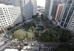 Buraco do Lume, no Centro do Rio: área foi vendida durante leilão em São Paulo Foto: Domingos Peixoto / Agência O Globo