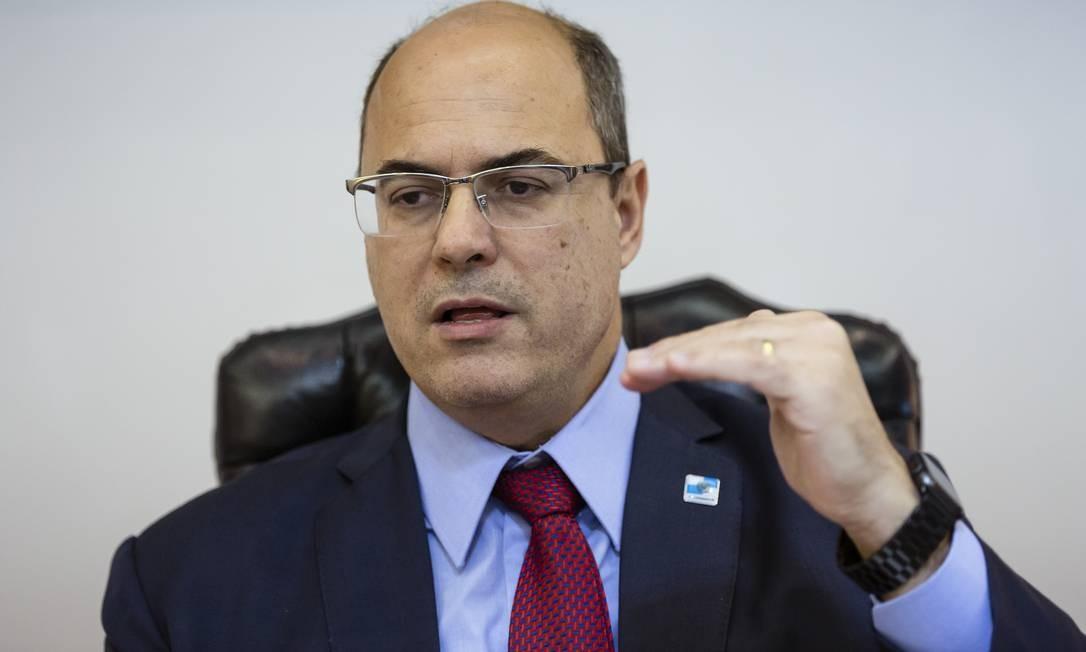 O governador do Rio, Wilson Witzel 14/08/2019 Foto: Leo Martins / Agência O Globo