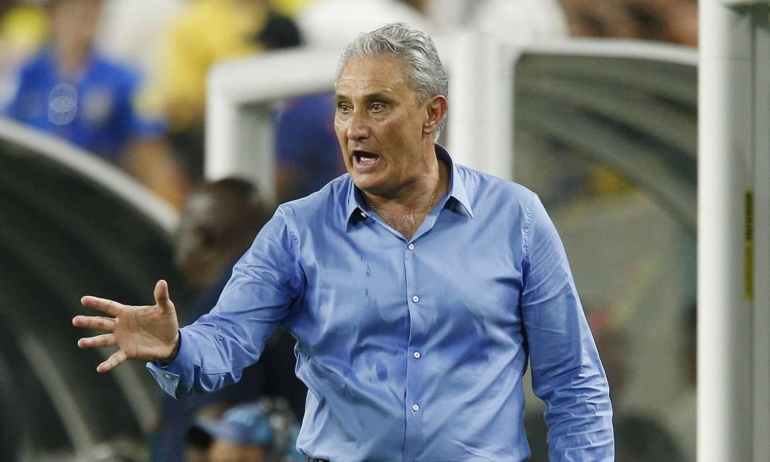 Tite, técnico da seleção brasileira Foto: Michael Reaves / AFP