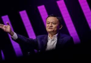 O empresário Jack Ma deixa a presidência do grupo Alibaba após 20 anos no comando Foto: Bloomberg