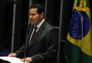 O vice-presidente disse que a democracia é um dos pilares da civilização ocidental Foto: Jorge William / Agência O Globo