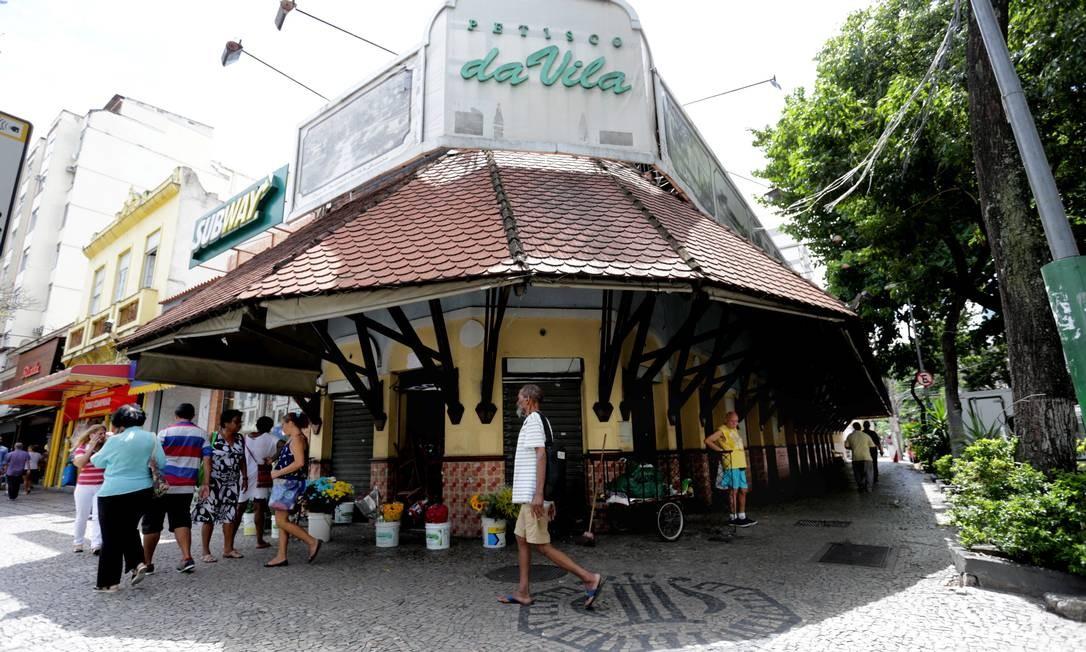O Petisco da Vila, aberto em 1969, na Avenida Boulevard 28 de Setembro, em Vila Isabel, fechou em 2017. No mesmo endereço, funcionou a Choperia Sempre Vila, que fechou em janeiro deste ano Foto: Marcelo Theobald / Agência O Globo