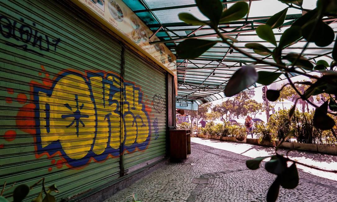 A pizzaria Guanabara, filial Lapa, fechou em novembro de 2017 Foto: Marcelo Régua / Agência O Globo