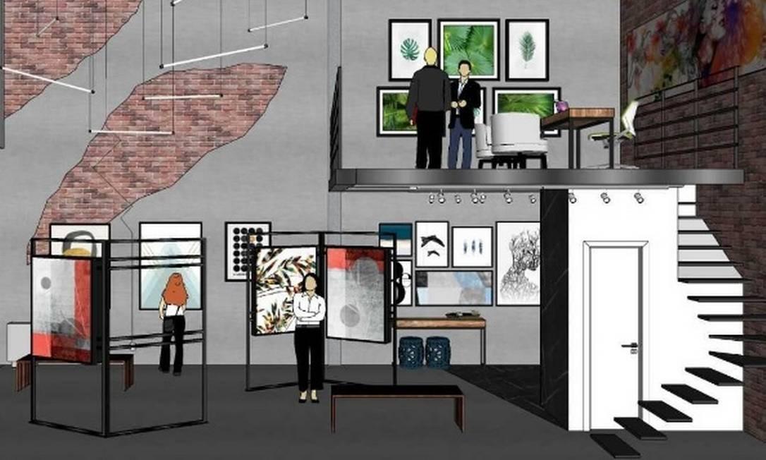 Projeto da galeria de arte que será inaugurada no Vogue Square Foto: Divulgação/Vogue Square