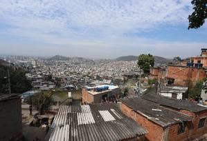 Vila Cruzeiro, na Penha, Zona Norte do Rio Foto: Fabiano Rocha / Agência O Globo