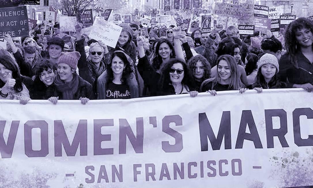 Olga Talamante participa da Marcha das Mulheres em São Francisco Foto: Reprodução