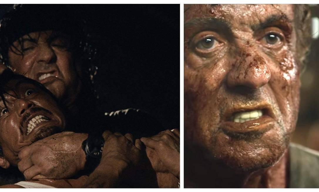 """Até agora, """"Rambo IV"""" é considerado o filme mais violento de toda a franquia, com o herói matando todo mundo. Em sua conta de Instagram, Sylvester Stallone disse que """"Rambo: até o fim"""", último filme da saga, será classificado para maiores de 18 anos e que será o filme mais sanguinário de todos Foto: Divulgação"""