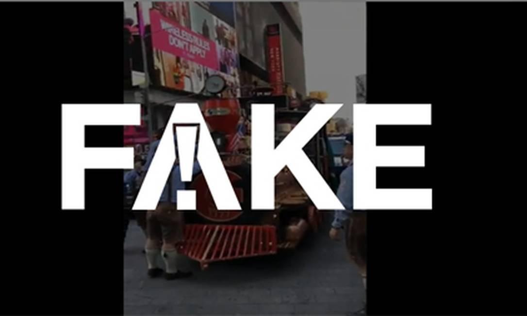 É #FAKE que Trump mandou tocar Hino Nacional em Nova York Foto: Reprodução