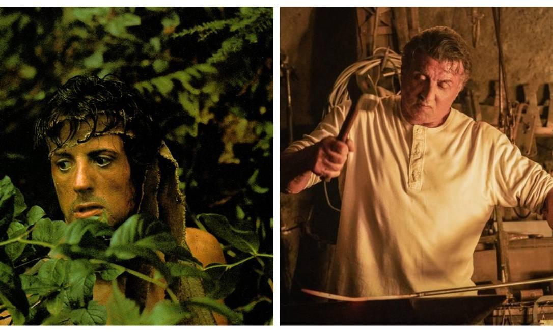 """No primeiro filme, """"Rambo: programado para matar"""", de 1982, Sylvester Stallone interpretava um veterano da Guerra do Vietnã que era capturado por inimigos e usava todo seu treinamento para fugir. Em """"Rambo: até o fim"""", Rambo, já bem mais velho, vive recluso em um rancho, mas acaba voltando à ação para enfrentar um cartel mexicano Foto: Divulgação / Divulgação"""