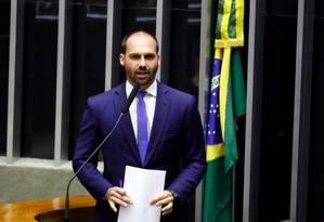 O deputado federal Eduardo Bolsonaro (PSL-SP) 04/09/2019 Foto: Agência Câmara