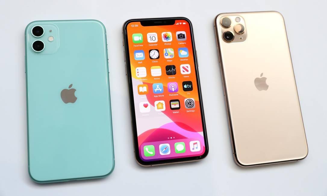 Novos Iphones tem pré-venda a partir de sexta-feira, com chegada às lojas no próximo dia 20, nos EUA. Não há informações sobre valores e data de lançamento no Brasil. Foto: JUSTIN SULLIVAN / AFP
