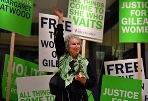 A canadense Margaret Atwood no lançamento do livro 'Os testamentos' Foto: DYLAN MARTINEZ / REUTERS