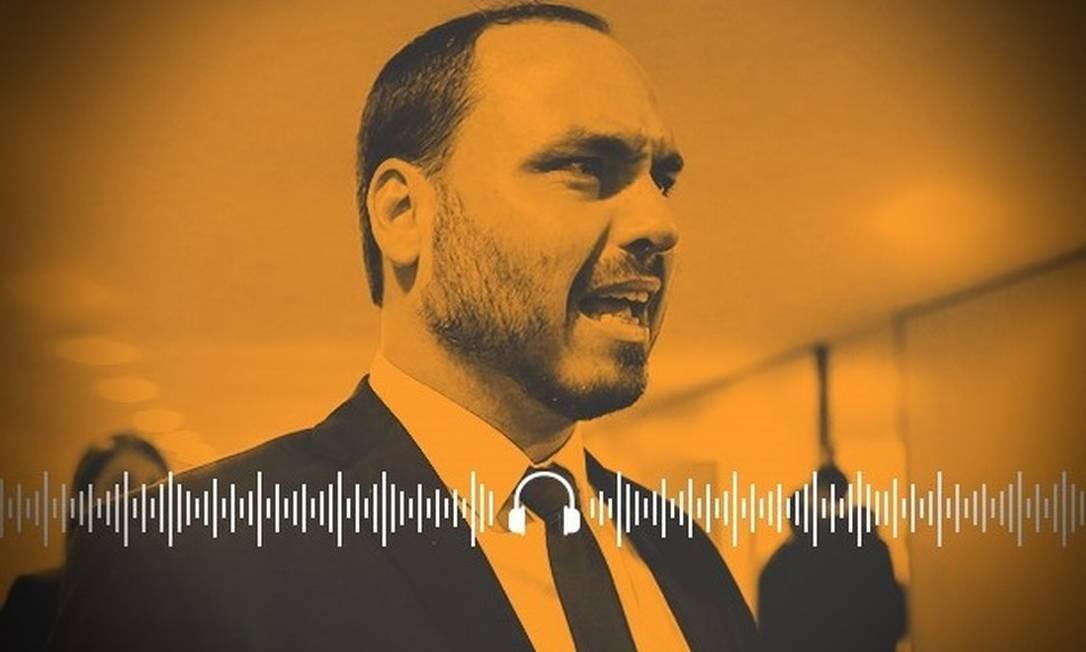 Ao Ponto: podcast do GLOBO analisa as consequências da polêmica frase de Carlos Bolsonaro sobre a democracia Foto: Reprodução