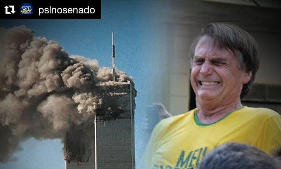 Postagem foi feita no perfil da Liderança do PSL no Senado no Instagram Foto: Instagram / Reprodução