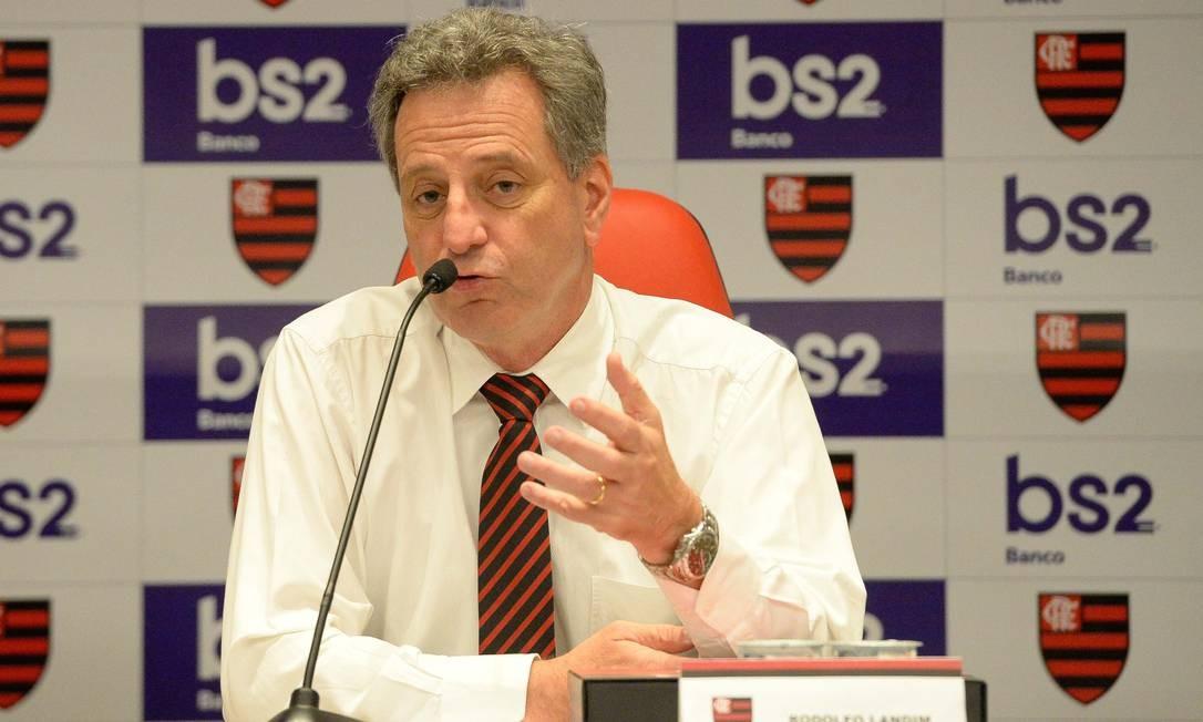 Rodolfo Landim, presidente do Flamengo Foto: Alexandre Vidal / Flamengo
