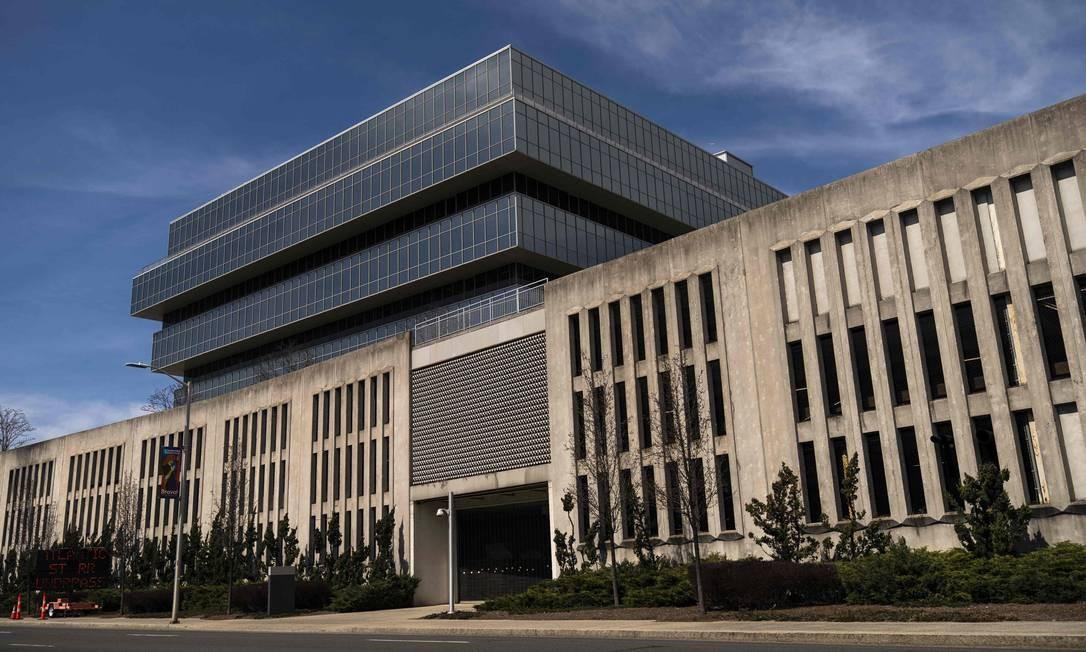 Sede da empresa farmacêutica Purdue Pharma em Stamford Foto: Drew Angerer / AFP