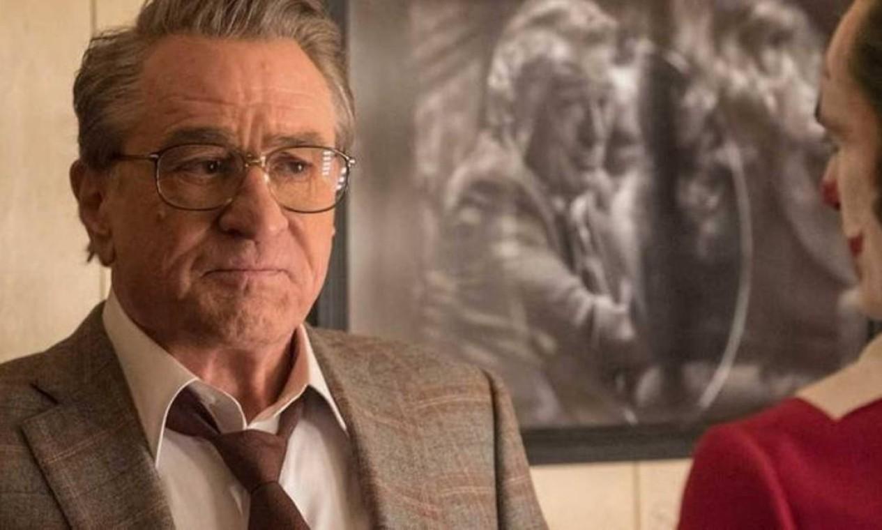 Robert De Niro, que vive, na trama, o apresentador de TV conhecido como Murray Franklin Foto: Divulgação