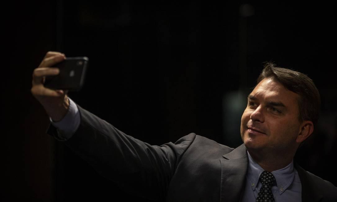 O senador Flavio Bolsonaro (PSL-RJ) 11/09/2019 Foto: Daniel Marenco / Agência O Globo