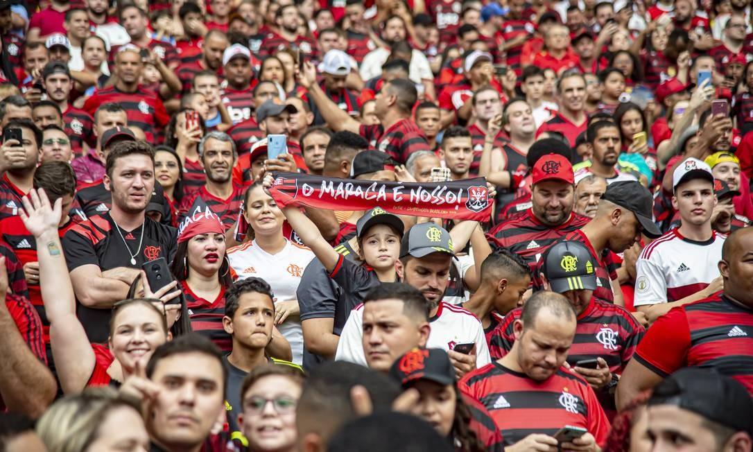 Torcida do Flamengo no Maracanã Foto: Alexandre Vidal/Flamengo