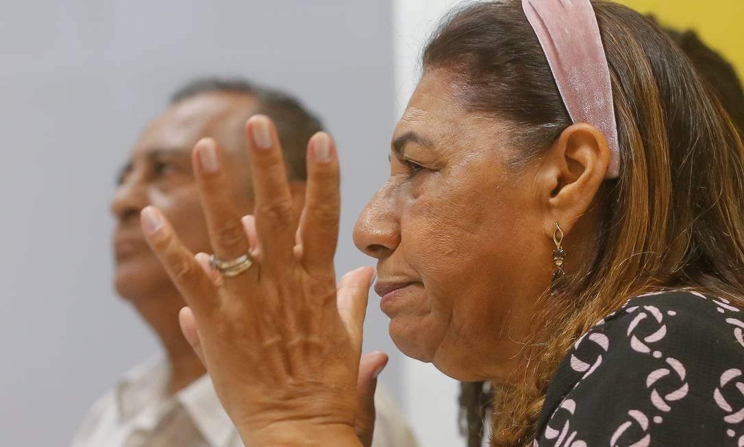Marinete e Antônio, os pais de Marielle: contrários à federalização da investigação Foto: Marcelo Regua / Agência O Globo