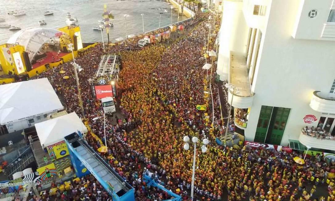 Carnaval em Salvador, na Bahia Foto: Valter Pontes / Governo da Bahia