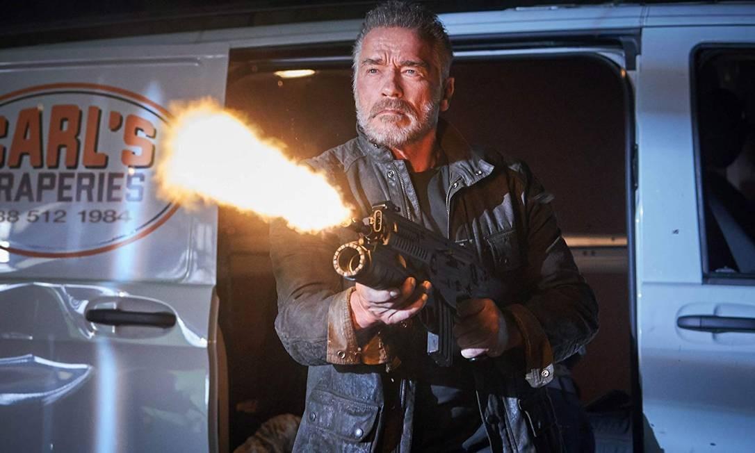 Arnold Schwarzenegger está de volta como o herói ciborgue em 'Exterminador do Futuro: Destino Sombrio'. Lançamento no dia 31 de outubro Foto: Divulgação