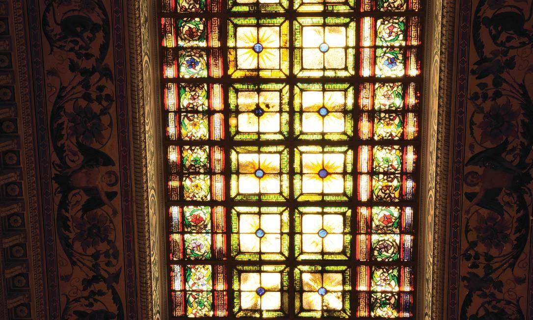 De 1863, vitrais do Museu da República são os mais antigos da cidade Foto: Romulo Fialdini