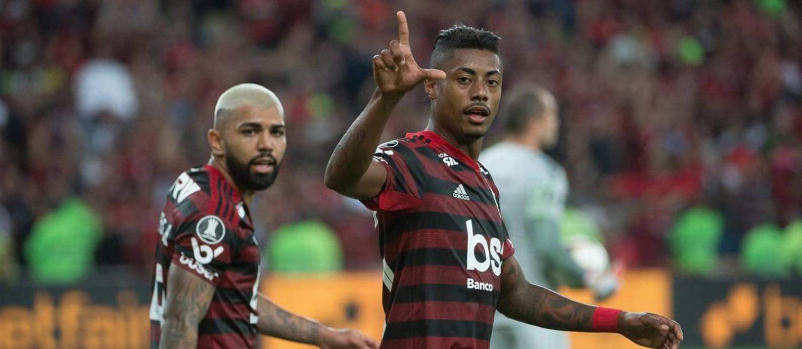 Gabigol e Bruno Henriquem têm se destacado pelo Flamengo Foto: Alexandre Vidal/Flamengo
