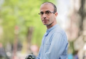 Yuval Noah Harari em Amsterdam, 24 de abril de 2018 Foto: Olivier Middendorp