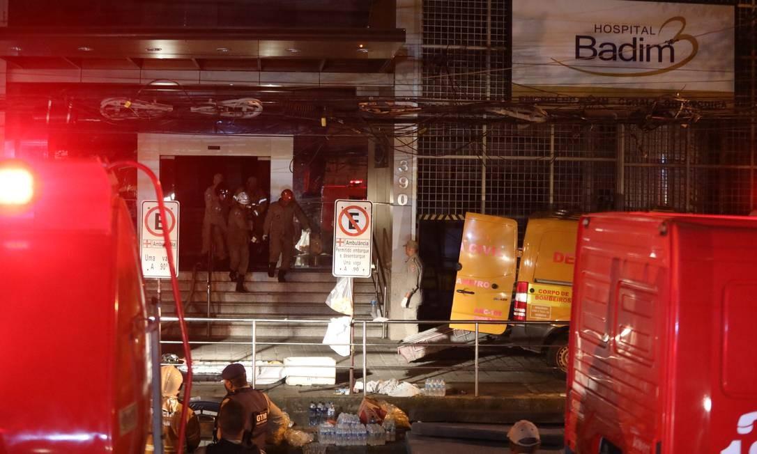 Incêndio em Hospital Badim Foto: Fábio Motta