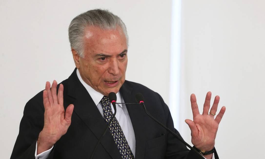 O ex-presidente Michel Temer Foto: Givaldo Barbosa / Agência O Globo