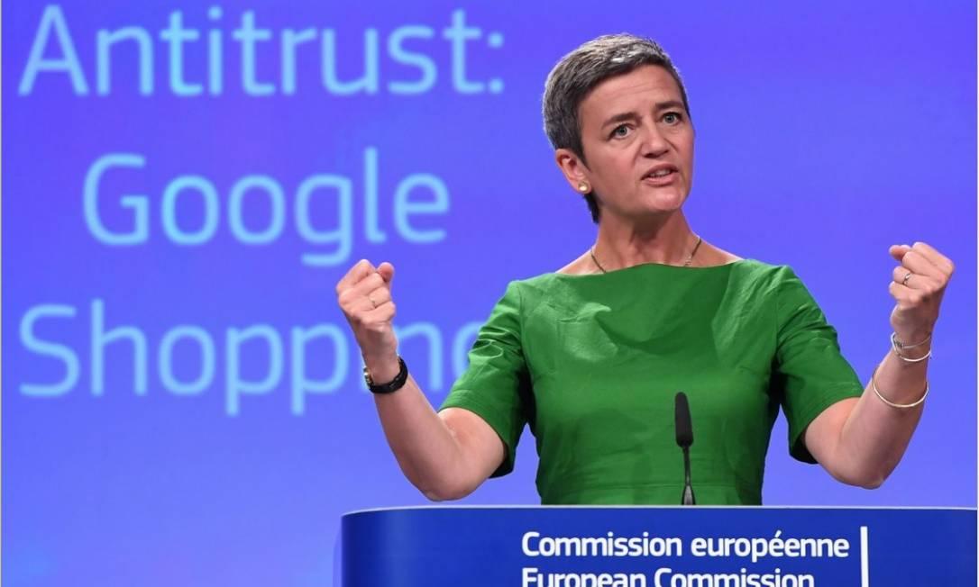 A comissária europeia de concorrência, Margrethe Vestager Foto: AFP