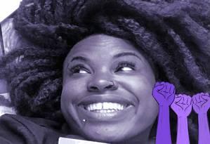 """Preta-Rara: """"Espero que as pessoas se sintam parte do livro, desde a trabalhadora doméstica até a patroa"""" Foto: Arte de José Lopes sobre foto divulgação"""