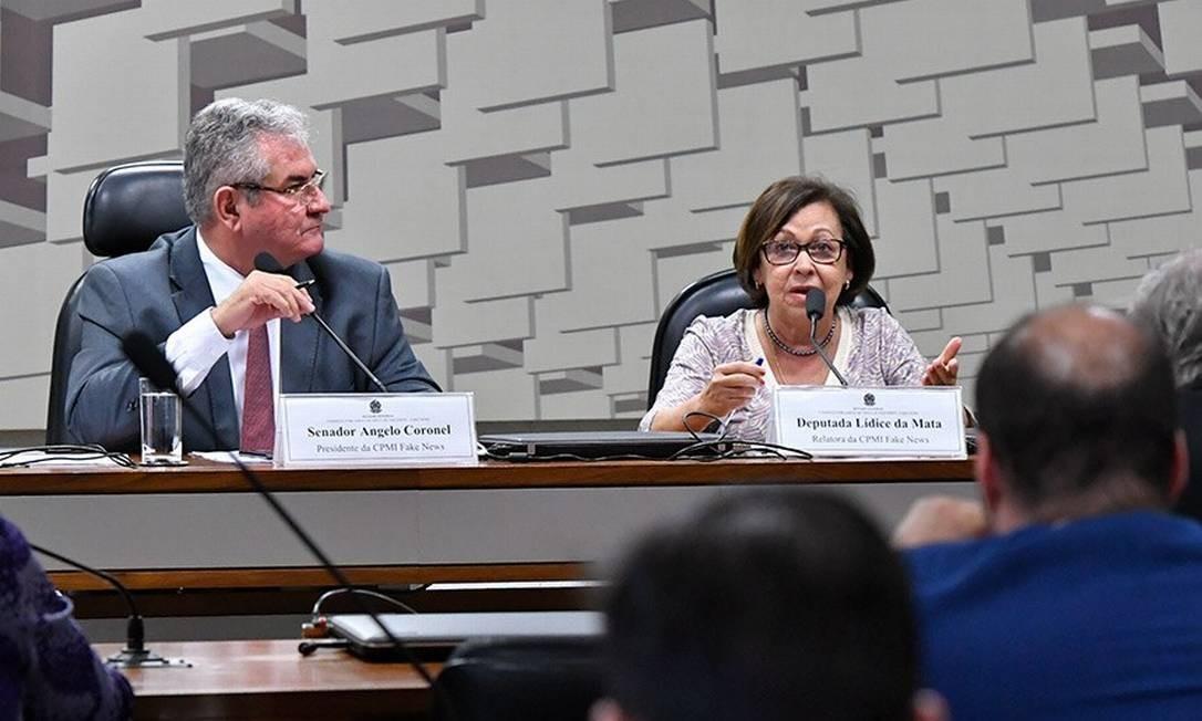 A CPI é presidida pelo senador Ângelo Coronel (PSD-BA). A relatora é a deputada Lídice da Mata (PSB-BA) Foto: Geraldo Magela / Agência Senado