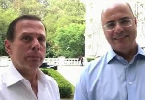 João Doria e Wilson Witzel Foto: Reprodução